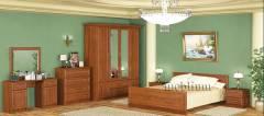 Спальня Далас 4Д каштан-71