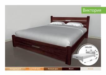 Деревяне ліжко Виктория-91