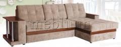Угловой диван Орфей-71 Вариант обивки:  весь диван кордрой (коричневый)