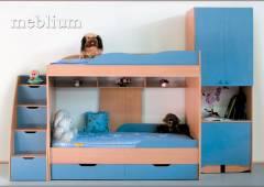Дитяча Люсi  - 10 дуб молочний+фасаді синій Дитяча Люсі-10 дуб молочний+фасади синій