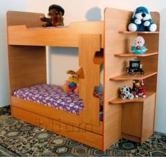 Кровать двухярусная с полками-10 Кровать двухярусная с полками-10