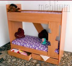 Кровать двухярусная с шухлядами-10 Кровать двухярусная с шухлядами-10