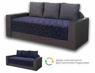Софа Адель-89 Вариант обивки: серый + фиолетовые цветы