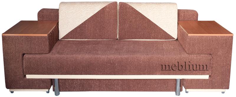 Диван с столом Астра 105-10 Вариант 7:Основа-аманда комбин шоколад,Координат-аманда 2 беж.