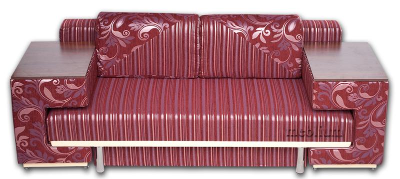 Диван с столом Астра 105-10 Вариант 10:основа - земфира бордо полоса, координат - земфира бордо.
