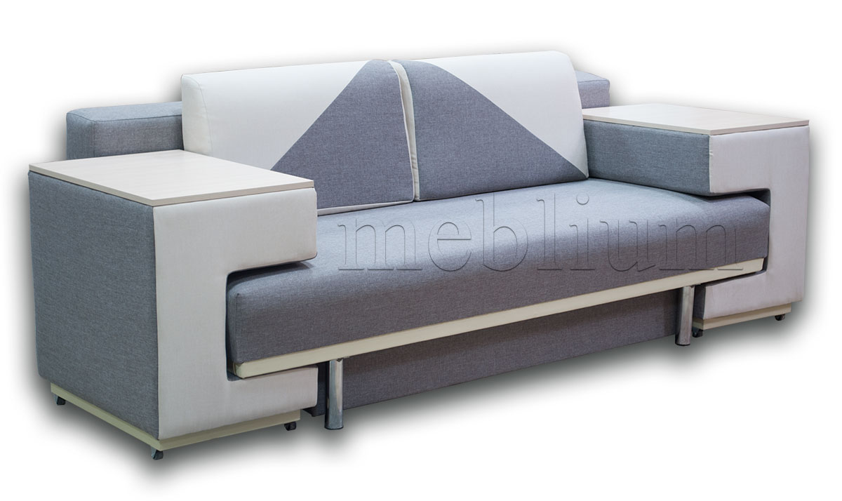 Диван с столом Астра 105-10 Вариант 25: основа - Саванна капучино 03 (Эксим), координат - Саванна милк (Арбен)