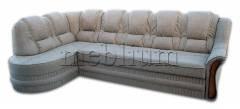 Угловой диван Барон 1А вариант Б-6 Вариант обивки: весь диван - Питон 2222