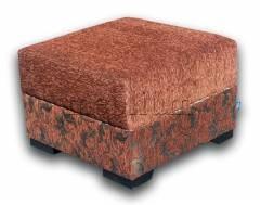 Пуф Бонус-12 Вариант обивки: основа - коричневий, координат - квіти