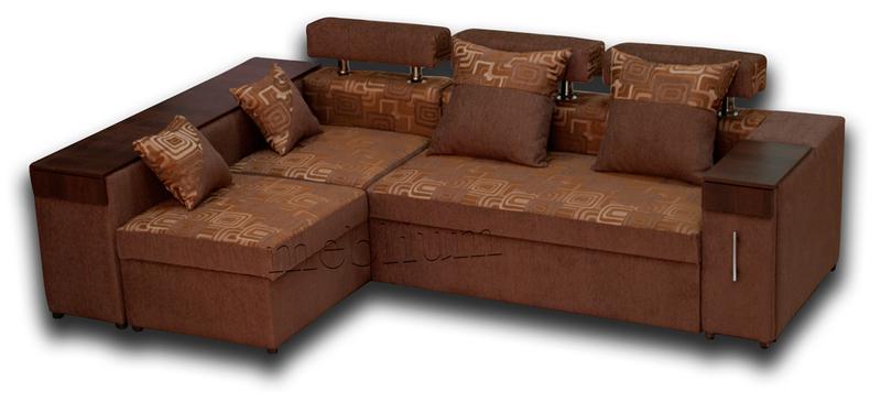 Кутовий диван Чікаго New-10 ТАКОЖ ЦЮ МОДЕЛЬ ЗАМОВЛЯЛИ В ТКАНИНI: основа - лада brown, координат - лада комб. brown.