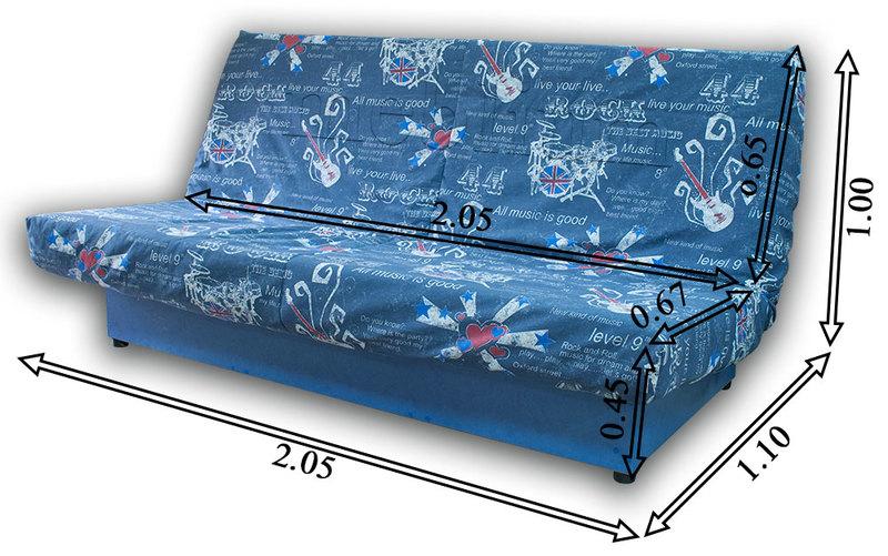 Ортопедический диван Джаз-86 Габаритные размеры