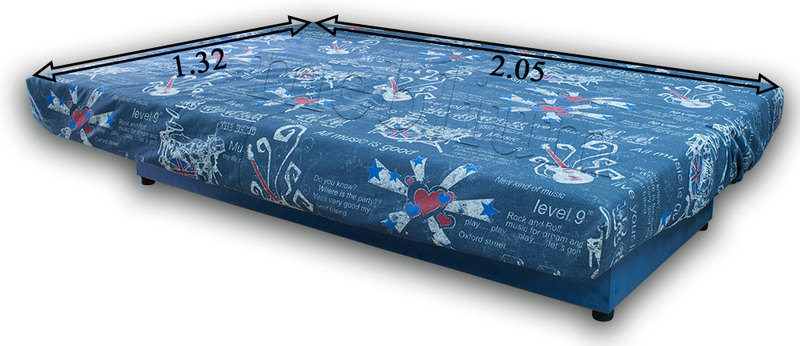 Ортопедический диван Джаз-86 Габариты дивана в разложенном виде: