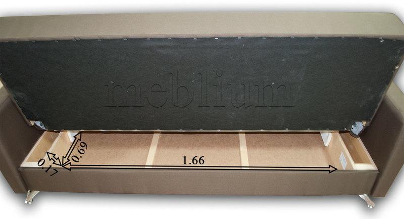 Диван Триумф-12 Опера плум 649 + Опера виолет 653 Размеры ниши для белья: