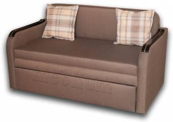 Диван Гном-Д 130-12 Вариант обивки: весь диван - Гига комб браун