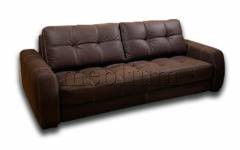 Диван Комфорт-6 Вариант обивки: Весь диван оббит - Витэкс (кож.зам) Торро шоколад 28