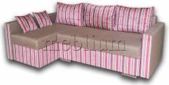 Уголовой диван Марта 140 (нов)-42 Вариант 33: основа - Лугано браун, координат - Эвита