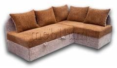 Кутовий диван Ніжність-28 Браун+Беж Варіант 2: основа - Браун, координат - Беж