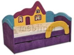 Детский диван Домік -41 Варіант обивки: Фіолет