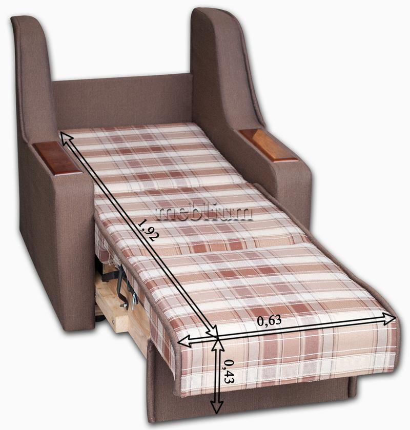 Крісло ЕШ-12 Саванна грей + Саванна хезел В розкладеному вигляді