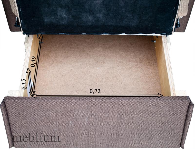Крісло ЕШ-12 Саванна грей + Саванна хезел Ніша для білизни