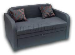 Диван Гном 130-89 Вариант обивки: весь диван - серый