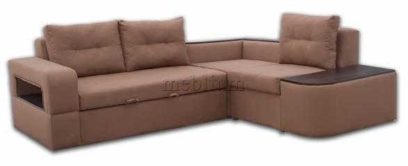 Угловой диван Голливуд-76 Нео Браун Вариант обивки: Нео браун, дсп венге