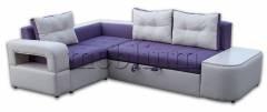 Угловой диван Голливуд-76 Вариант обивки: Нео плю + Нео крем