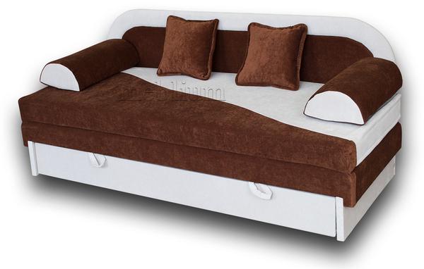 Диван Хвиля-89 основа - Енерджі шоколад. Координат - Енерджі вайт (Arben).
