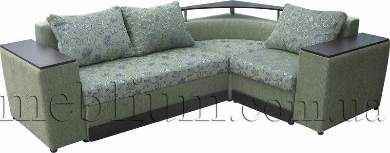 Кутовий диван Вашингтон New-10 Варіант 3: основа - фиори грин, координат - фиори грин ком (Мебтекс).