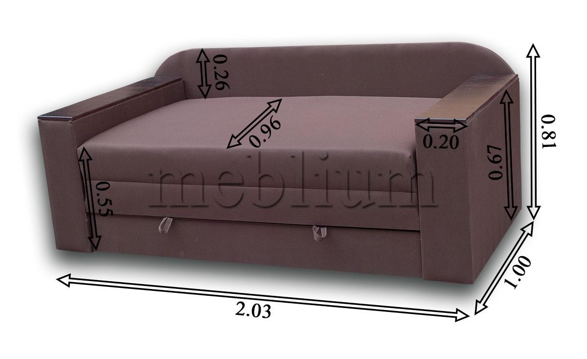 Диван Кент 160-89 Люкс Габаритні розміри