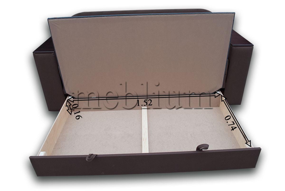 Диван Кент 160-89 Люкс Размеры ниши для белья
