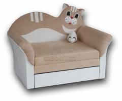 Детский диван Коте 2 быльца-3 Вариант 4:основа - нобук 125, координат - нобук 111 (ЛайтСтар).