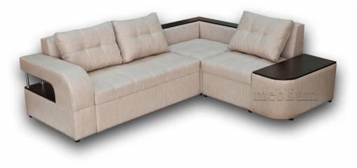 Кутовий диван Лас-Вегас-10 ТАКОЖ ЦЮ МОДЕЛЬ ЗАМОВЛЯЛИ В ТКАНИНI:  лугано крем (Артекс), ДСП - венге.