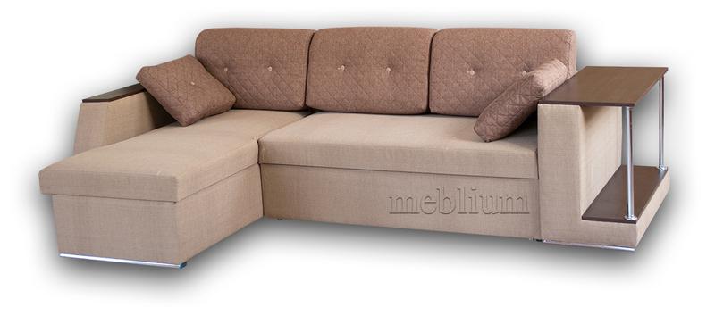Кутовий диван Лос-Анджелес New-10 ТАКОЖ ЦЮ МОДЕЛЬ ЗАМОВЛЯЛИ В ТКАНИНI:  диван - флакс 14 (Апарель), подушки - саванна каро 25 (ЛайтСтар) ДСП Венге.