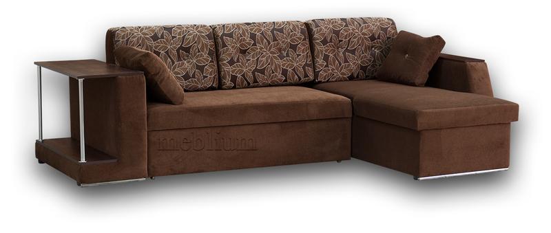 Кутовий диван Лос-Анджелес New-10 ТАКОЖ ЦЮ МОДЕЛЬ ЗАМОВЛЯЛИ В ТКАНИНI:  диван - престиж 10, подушки - рамона 2 (Мебтекс) ДСП - орех темний.