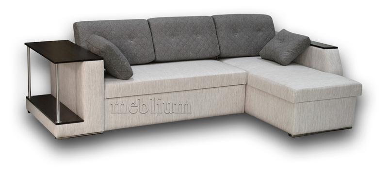 Кутовий диван Лос-Анджелес New-10 ТАКОЖ ЦЮ МОДЕЛЬ ЗАМОВЛЯЛИ В ТКАНИНI:  диван - лугано крем (Артекс), подушки - саванна каро 21 (ЛайтСтар), ДСП - венге.