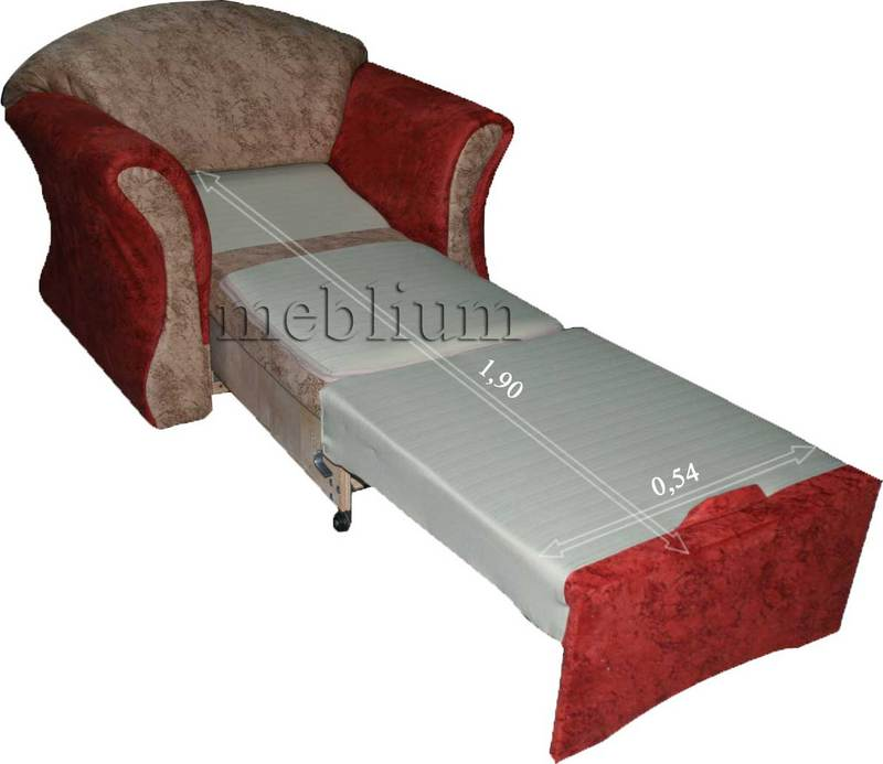 Кресло Meblium  23-1 торос Крісло Meblium 23-1 в розкладеному вигляді: