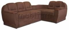 Диван угловой Меркурий-14 Херера шоколад БЕЗ СТОЛИКА  БЕЗ СТОЛИКА Вариант обивки: весь диван - херера шоколад
