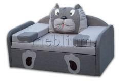 Детский диван МИШУТКА-14 Светло Серый Вариант обивки: Светло Серый