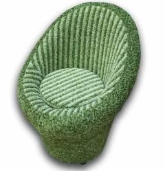 Крісло-банкетка Meblium 1-9 Зелена смуга