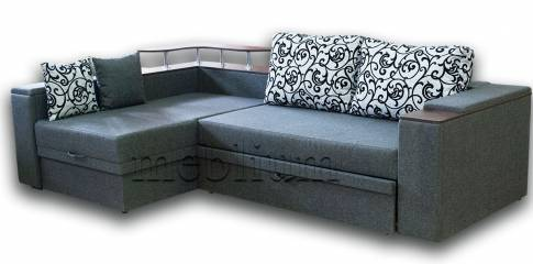 Уголовой диван Лирик New-75 Вариант обивки: весь диван - Папернум Серый