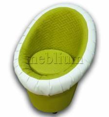 Крісло-банкетка Meblium 1-9 Нео епл + Шкірзам білий