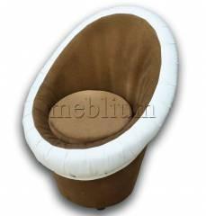 Крісло-банкетка Meblium 1-9 Поні коричневий + Вайт