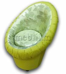 Крісло-банкетка Meblium 1-9 Зелені квіти + Нео епл