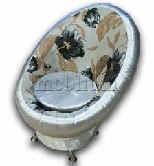Банкетка Meblium 6-9 Чорні квіти + срібло