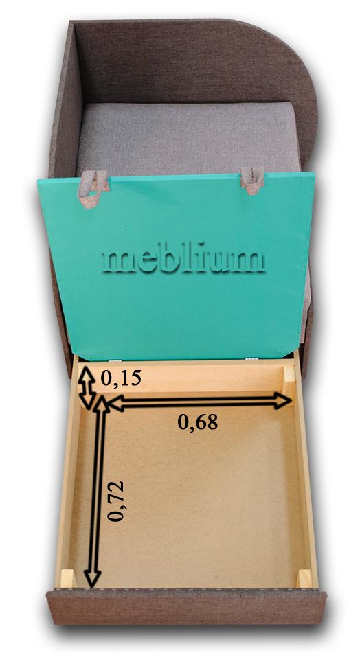Дитячий диван Meblium 183-1 астра Розміри ніши для білизни: