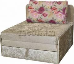 Диван Омега 1,00-42 Весь диван: велюр беж, подушка: цветы