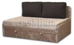Диван Омега 160-42 Вариант обивки: Велюр беж, подушки - черный