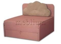 Диван Омега 1,00-42 Вариант обивки: комет розовый + серый