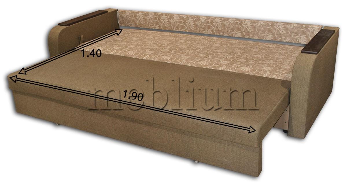 Диван Серж Эко -42 Гига комбин грин, подушки - цветы коричневые