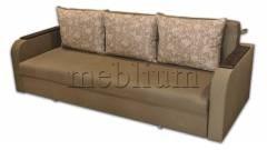 Диван Поліна Еко -42 Гіга комбін грін, подушки - квіти беж